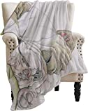 ARRISUM Sleepy English Bulldog Blanket for Couch Sofa or Bed Throw Size Super Cozy and Comfy Fleece Throw Blanket for All Seasons,80'X60' for Adults