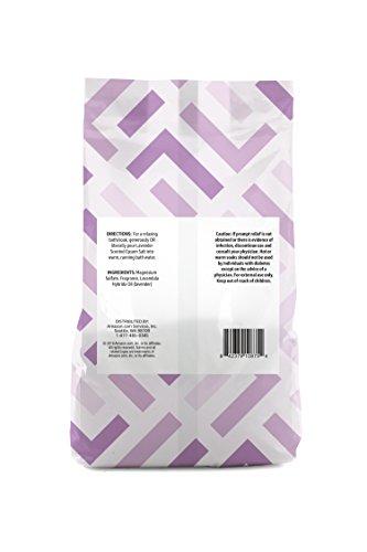 Amazon Brand - Solimo Epsom Salt Soaking Aid, Lavender Scented, 3 Pound