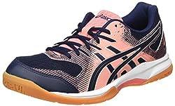ASICS Womens Gel-Rocket 9 Volleyball Shoe, Guava/Midnight,40 EU