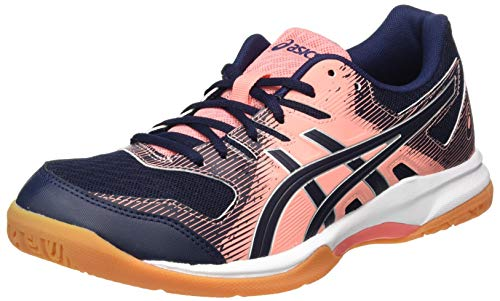 ASICS Womens Gel-Rocket 9 Volleyball Shoe, Guava/Midnight,40 EU