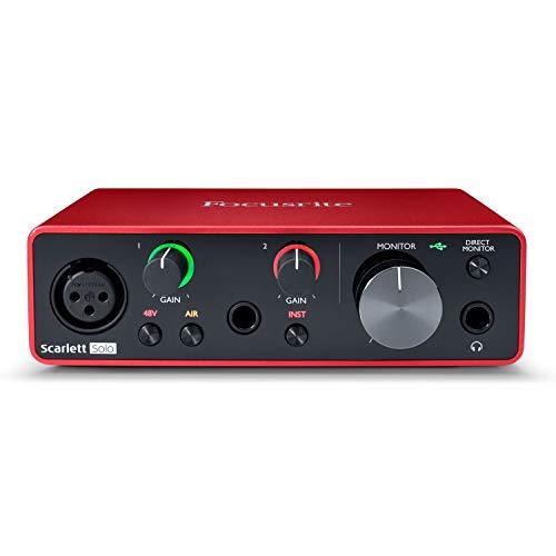 Focusrite SCARLETT SOLO 3rd Gen 192kHz USB Audio Interface w/ Pro Tools First