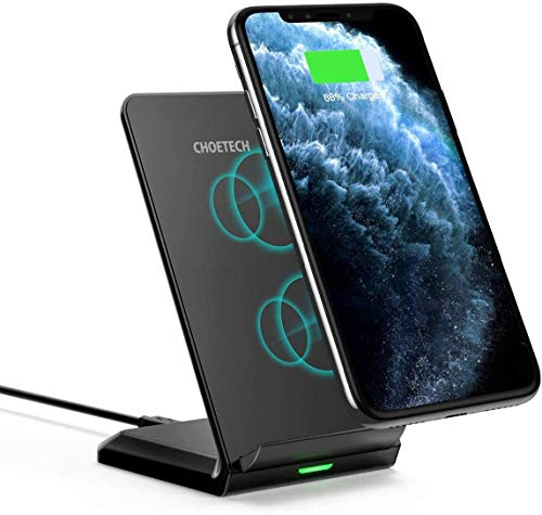 CHOETECH Wireless Charger,Fast Wireless Charging Stand 7.5W Compatible with iPhone SE 2020/11/11 Pro/11 Pro Max/XS/XR/XS Max/8/8+,10W Fast Wireless Charging for Galaxy S20/Note 10/S10/S9/S9+/S8 etc