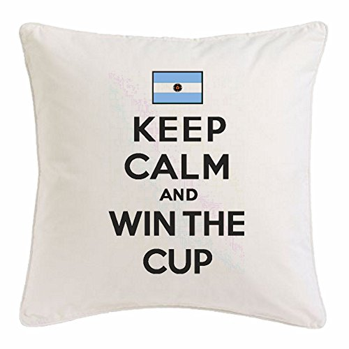 Reifen-Markt Funda de la Almohada 40x40cm Guarde la Calma y Ganar la Copa Argentina Argentina CAMPEÓN del FÚTBOL FÚTBOL Alemania Alemania CAMPEÓN del Mundo Europeo Francia EM 201