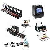 Riiai Escáner de película negativa, escáner de foto negativo, película negativa/película negativa convertida a foto digital JPG