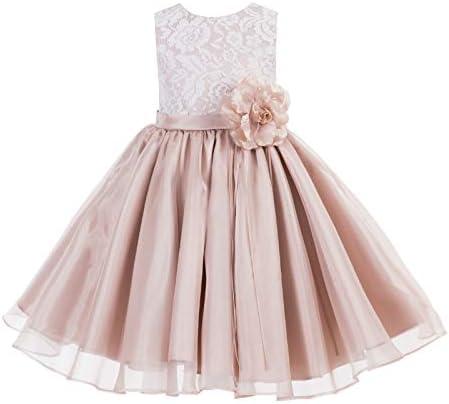 ekidsbridal Lace Organza Junior Flower Girl Dress Special Occasion Christening Dress 186F 6 product image