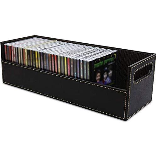Organisator voor dvd-spelplanken, ray-houder, Cd-opbergdoos met krachtige magnetische opening, Case Cables-container voor mediaplank en organisatie