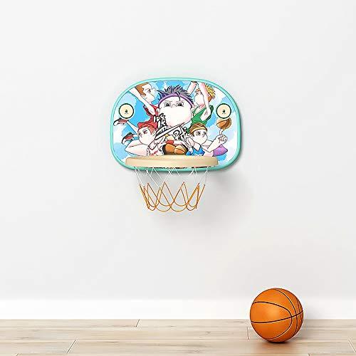 SONGYU Höhenverstellbar Basketballkorb Kind Hängend Basketball-Rückwand Faltbar Innen Kleinkind Baby Ball Motion Spielzeug Keine Spuren Nach Der Demontage (Color : Blue)