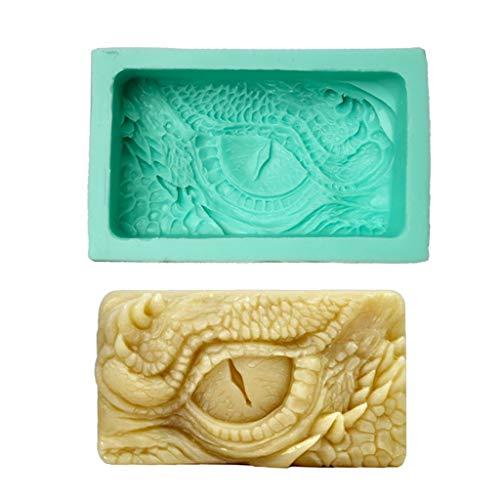 junengSO El Mango, 3D Ojos Jabón Vela Peonías Molde de Arcilla Molde de Silicona para decoración de Pasteles