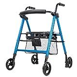 YWSJGH Vierrad-Roll Walker, faltbar Ältere Gehen, justierbarer Leichte Reisen Walker mit Rollen und Griffe, Einstellbarer, 300 lbs -