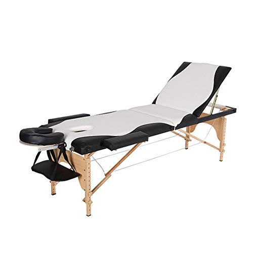Subobo massagetafel, draagbare 3-delig massagetafel, gemakkelijk instelbare hoogte, opvouwbare massage-ligstoel, beauty spa-behandeling, bank, geniet van een comfortabele massage