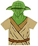 Star Wars Little Boys' Toddler Yoda Hooded Tee with Ears (4T) Green