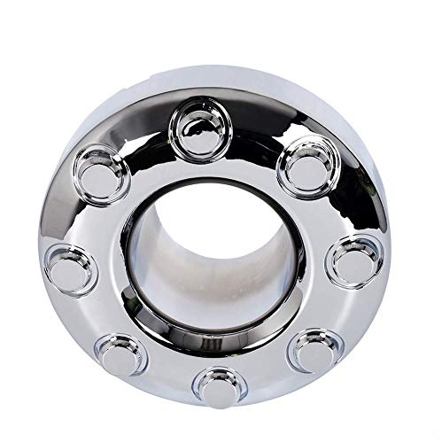 1 PC Dually Chrome Open Front 4x4 Wheel Center Caps Hub Cap Replacement for Ford F350 F-350 2005-2018 Pickup Truck