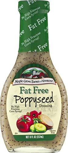 Maple Grove Farms Fat Free Salad Dressing, Poppyseed, 8 Ounce