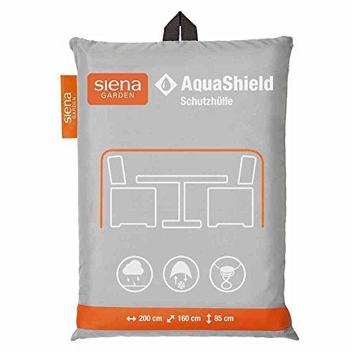 Siena Garden AquaShield Sitzgruppenschutzhülle, silber-grau, mit Active Air System, 200x160x85cm