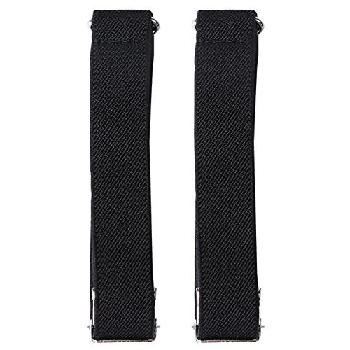 Happyyyami - Pulseras elásticas para camisas, antideslizantes, unisex, color negro