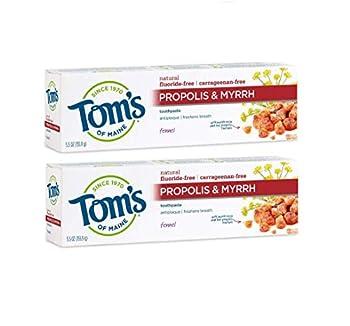 Tom s of Maine Fluoride-Free Propolis & Myrrh Natural-Toothpaste Fennel 5.5 oz 2-Pack