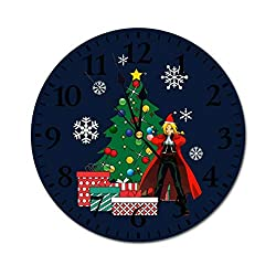 Edward Elric Around The Christmas Tree Wall Clock,Digital Wall Clock, Printed Wall Clocks, Wall Clocks Battery Operated, Wall Clocks for bedrooms, Wall Clocks for Living Room
