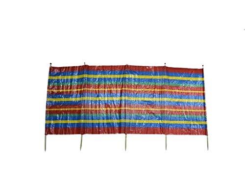 DUE ESSE DISTRIBUZIONI SRL Telo paravento con picchetti a Fantasia da Spiaggia Campeggio Giardino (450x115 cm, 8 bastoni)