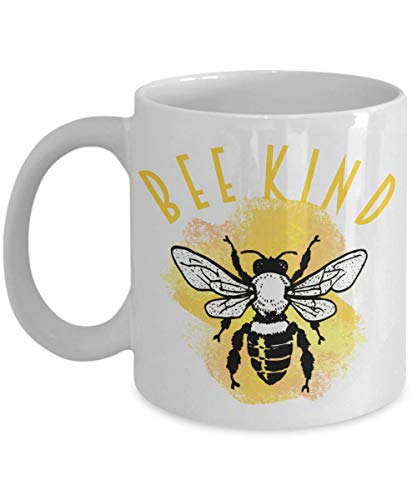 Bee Gift Cute Bee Mug Gifts for Bee Lovers Funny Bee Kind Gifts for Bees Keeper Bee Attitudes Gifts Coffee Mugs Tea Cup Gag Gift for Men and Women