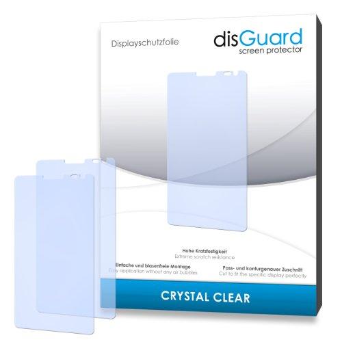 disGuard® Displayschutzfolie [Crystal Clear] kompatibel mit Huawei Ascend D2 [4 Stück] Kristallklar, Transparent, Unsichtbar, Extrem Kratzfest, Anti-Fingerabdruck - Panzerglas Folie, Schutzfolie