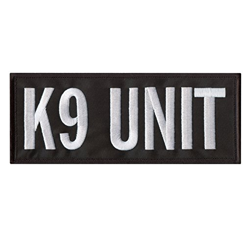 Sheriff K9 Unit Large XL 10x4 Police Body Armor Tactical Embroidered Fastener /Écusson Patch