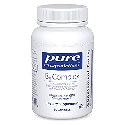 Pure Encapsulations B6 Complex | Vitamin B6 Supplement to Support Cellular, Cardiovascular, Neurological, and Psychological Health*