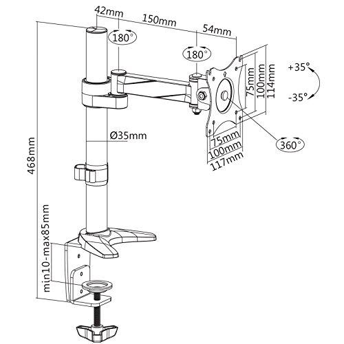 SAVONGA – 522201L Monitor Halterung (13″ bis 30″) - 4