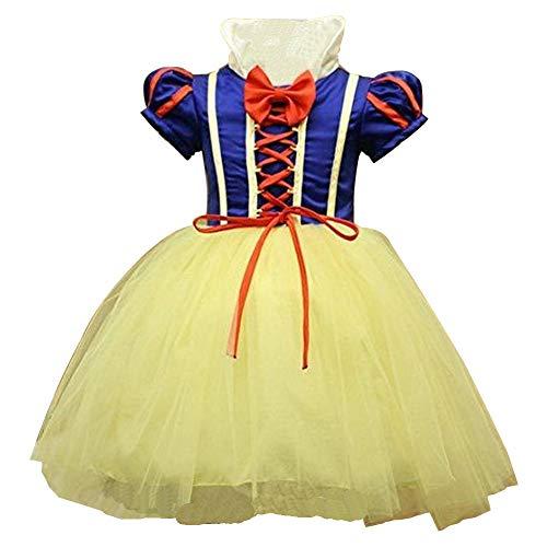 yeesn Disfraz de Blancanieves para niña 4-5 años