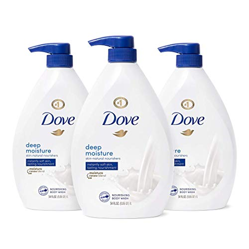 Dove Body Wash with Pump, Natural Nourishers for Instantly Soft Skin and Lasting Deep Moisture Cleanser that Effectively Washes Away Bacteria, 102 Fl Oz, Pack of 3