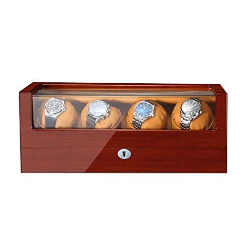 Caja enrolladora de Reloj - Caja de presentación de Almacenamiento de Reloj de Madera 5 Modos y Cajas de Reloj de múltiples Posiciones silenciosas y giratorias