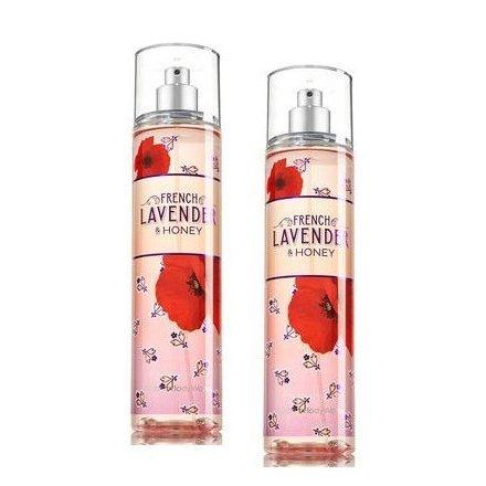 Bath and Body Works 2 Pack French Lavender & Honey Body Mist 8 Oz