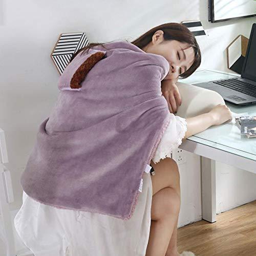 H&M Manta de Tiro con calefacción Manta de Felpa eléctrica Doble Reversible Calentamiento Acogedor Tiro de calefacción para Cama Sofá Sofá Apagado automático de Invierno,Púrpura