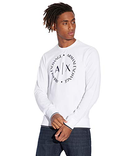 Armani Exchange 1st To Be Noticed Sweat Sudadera, Blanco (White 1100), X-Large para Hombre