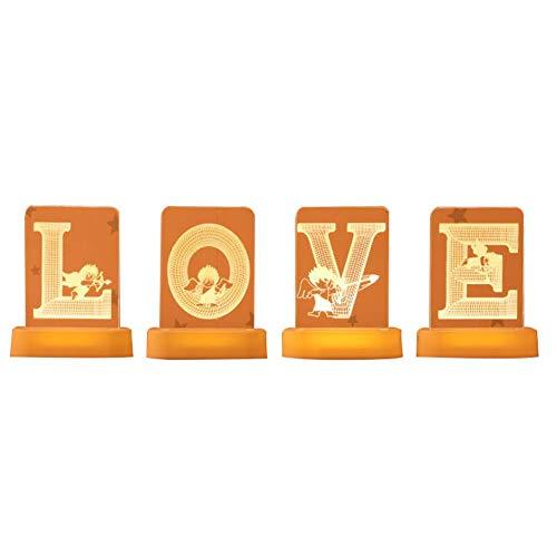 Luces de hadas del alfabeto iluminadas de plástico blanco con letras de pie para el día de San Valentín, lámparas de mesa, iluminando palabras, cumpleaños, bodas, fiestas, decoración diaria del hogar