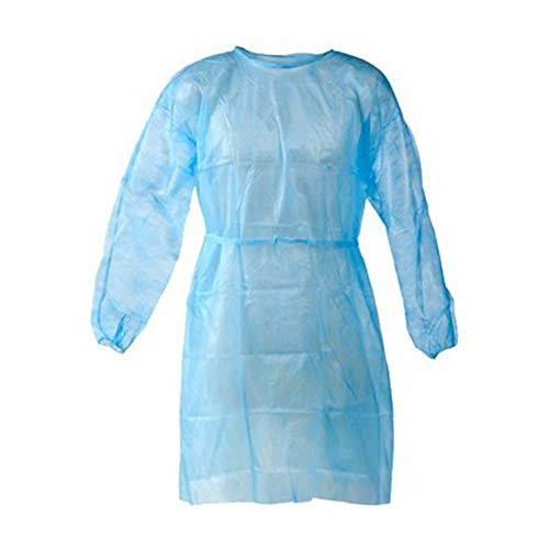 Disposable Isolation Gown Size: Universal Qty: 50 per Case (Blue)