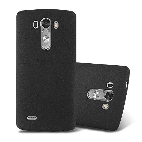 Cadorabo Hülle für LG G3 in Frost SCHWARZ - Handyhülle aus flexiblem TPU Silikon - Silikonhülle Schutzhülle Ultra Slim Soft Back Cover Hülle Bumper