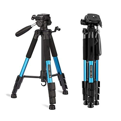 N / A Tragbare Kamera Stativ Leichtes Dreibeinstativ mit Tragetasche Fotostativ für Handy DSLR Beamer Tablets Live-Chat - Blau