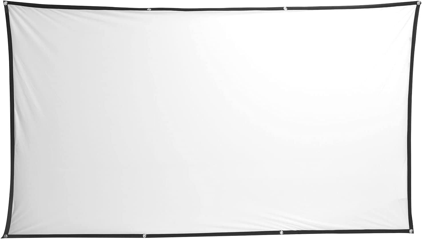 Projection Movies Screen, Mini White Projector Screen Polyester 160-degree Viewable Range for Office for Home(150 inches (330187cm))
