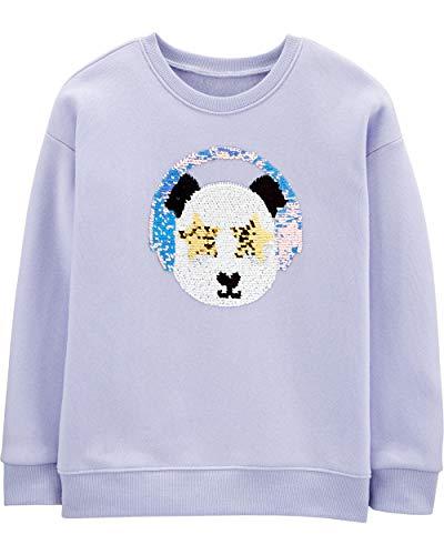 OshKosh B'Gosh girls Flip Sequin Pullover Sweater, Lavender Friend, 10 US
