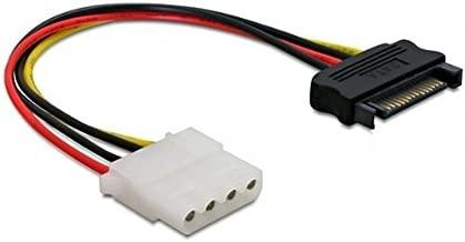 DeLOCK Power SATA/Molex - Cable de alimentación SATA (Molex/SATA), Negro y Blanco
