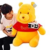 DQYFZQ Winnie The Pooh Animal Stuffed Toy Baby Doll Home Decor Valentines Birthday Gift Squeeze Stress Reliever,Yellow,35cm