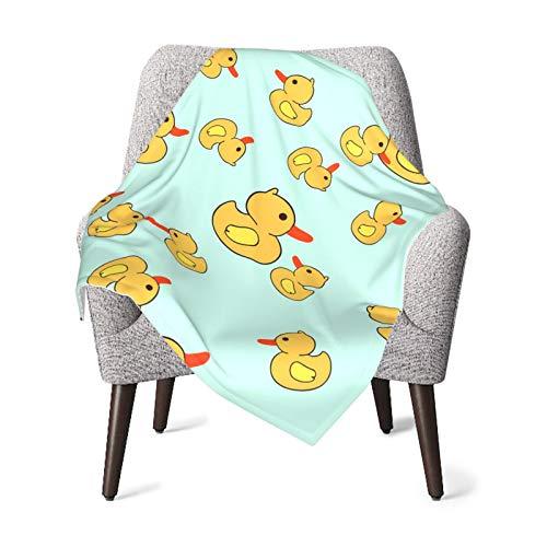 Flannel Blanket Or for Baby Super Soft Warm Blanket for Infant Or Newborn Rubber Duck Receiving Blanket for Crib Winter Blanket Stroller Travel Outdoor Decorative
