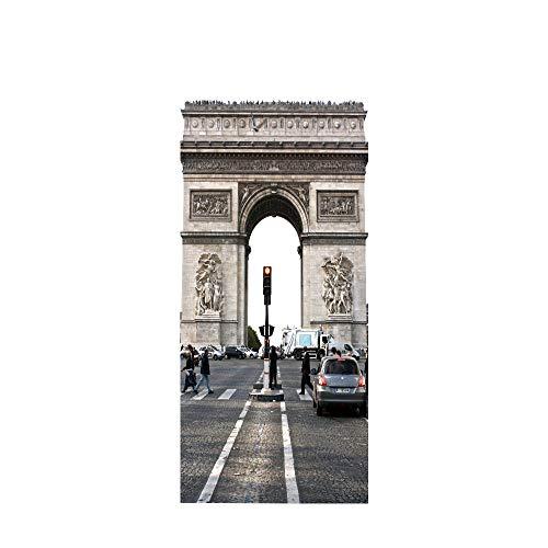 Papel Pintado Puerta Arco Del Triunfo Pegatinas De Pared Pvc Pared Decoración Del Hogar Murales Adhesivos Salón Guardería Decoración Autoadhesiva 77 X 200Cm(30.3'' * 78.7'')