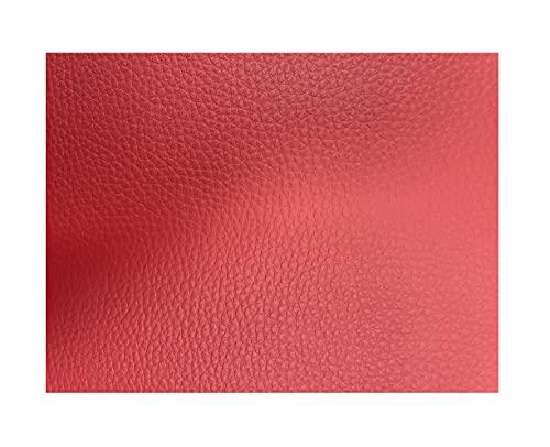 Polipiel por Metros para Tapizar, Manualidades y Forrar. 140 cm Ancho. (Rojo, 2 metros)