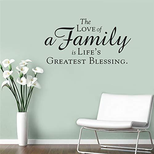 Creative Die Liebe Einer Familie Ist Das Leben Die Größte Segen Letters Muursticker Slaapkamer Home Decor Vinyl Muurtattoo DIY behang