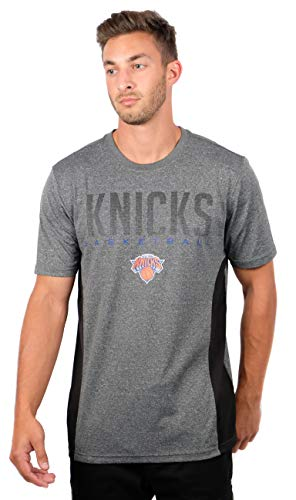 NBA New York Knicks Mens Active Tee Shirt, Charcoal Heather,
