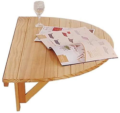JIADUOBAO Mesa plegable mesita de noche para espacios pequeños de madera plegable de pared mesa de gota, mesa de cocina y comedor, escritorio de oficina en casa, estación de trabajo