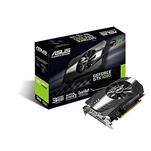 ASUS NVIDIA GeForce GTX1060 Phoenix 3G Gaming Grafikkarte (PCIe 3.0, 3GB DDR5 Speicher, DVI, HDMI, DisplayPort)