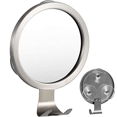 Specchio da doccia antiappannamento, specchio da bagno antiappannamento, con gancio a rasoio e potente ventosa