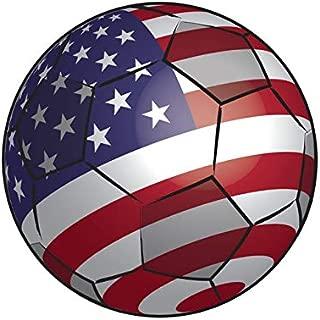 United States Soccer Ball Sticker Decal Self Adhesive FA Graphix US USA America American Flag Football
